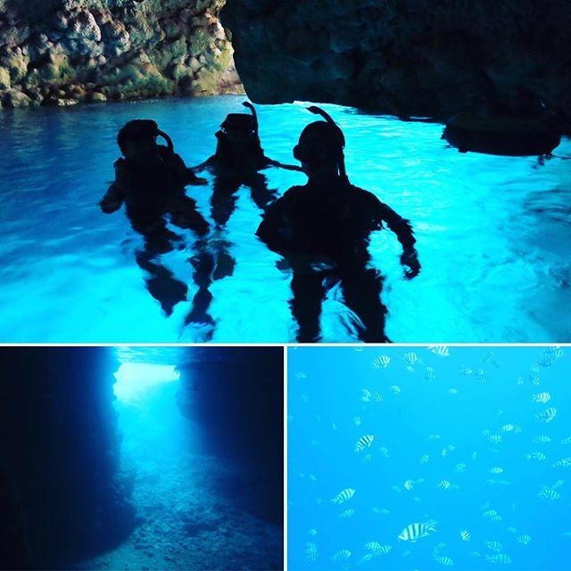 沖縄1日目Part2。悲願達成!青の洞窟(^ ^)♪これは行ってみなければ分からない!! #沖縄 #家族旅行 #青の洞窟 #青の絶景 #悲願達成 #行かなきゃ分からない #健康整体の家つみき #健康整体