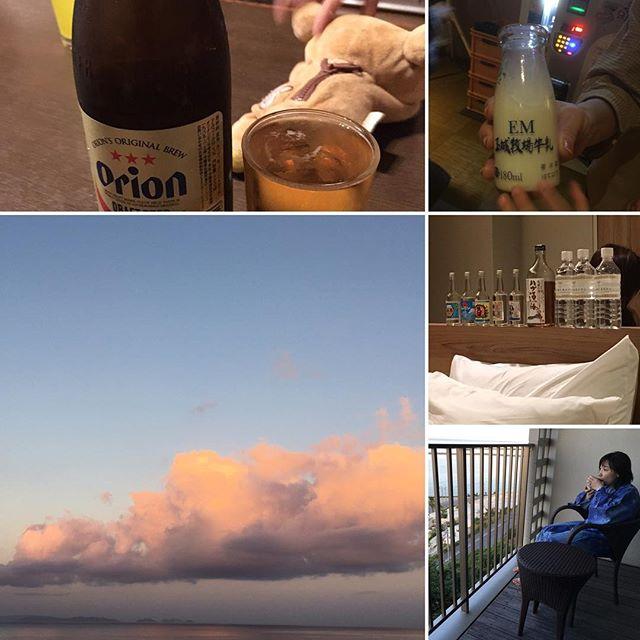 夜はオリオンビールに牛乳、ハブ酒、泡盛色々堪能し、最終日は露天風呂にテラスで朝焼けの中コーヒー︎(^ ^) 沖縄満喫! #沖縄 #家族旅行 #オリオンビール #牛乳 #ハブ酒 #泡盛 #露天風呂付き客室 #朝焼け #コーヒー #堪能 #健康整体の家つみき #健康整体