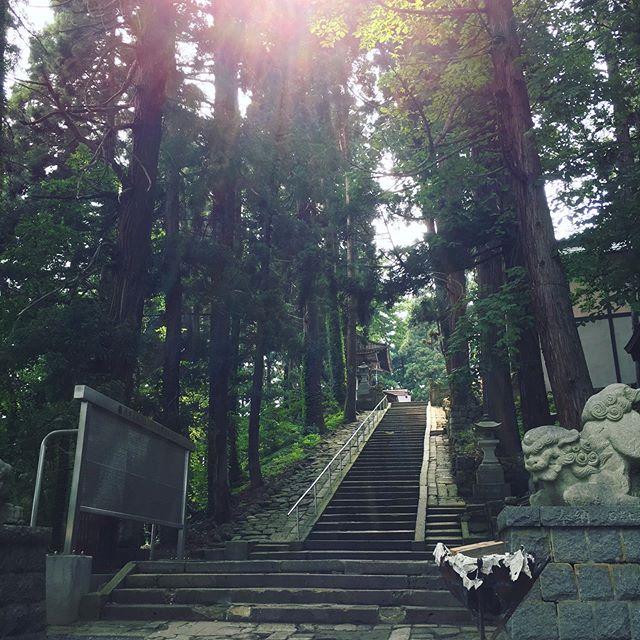 米沢牛を味わいに山形へ🐄熊野大社を散策ステキなところでした!蚊に刺されたけれど 笑
