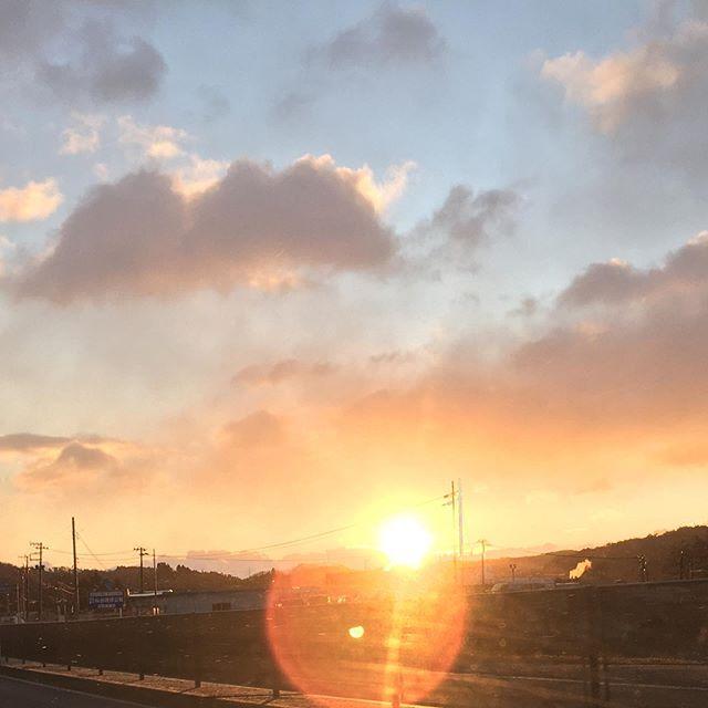 日の出前に出発️宮城出張お昼に仙台セリのきりたんぽ鍋を作っていただきました美味しかった〜幸せ